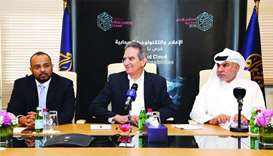 Al Jazeera Media Network officials announcing the details of the conference on Sunday