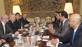 Emir, Belgian PM discuss bilateral ties, cooperation