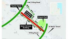 Al Matar Street to be closed for 12 hours on Thursday-Friday