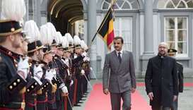 Emir holds talks in Belgium, ties get a boost