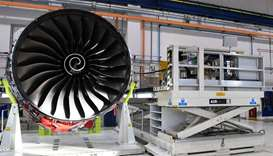 Rolls Royce Trent XWB engines, designed specifically for the Airbus A350 family of aircraft, are see