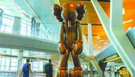 HIA and Qatar Museums unveil 'Small Lie' by Kaws
