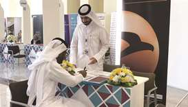 Al Khaliji takes part in QU's annual career fair