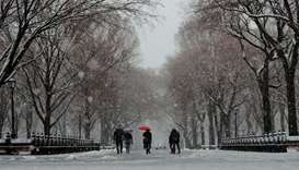 Winter storm hits northeast US, halting over 2,500 flights