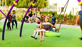 Steady flow of visitors - Al Bidda Park makes a grand return