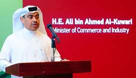 HE the Minister of Commerce and Industry Ali bin Ahmed al-Kuwari. PICTURES: Ram Chand.