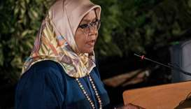 Maimunah Mohd Sharif UN-Habitat speaks during the opening of the 4th UN Environment Assembly