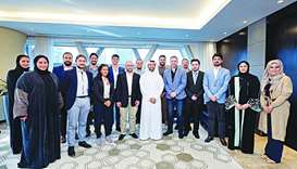 Hassan al-Thawadi with members of the Challenge 22 startups.