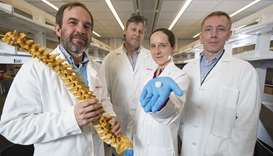 Sarah Gullbrand, centre and colleagues Rob Mauck, left, Tom Schaer, and Harvey Smith have