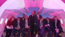 HE al-Baker with dignitaries at this year's ITB Berlin. The national airline revealed seven new dest