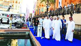 HE the Minister of Commerce and Industry Ali bin Ahmed al-Kuwari tours the Qatar International Boat
