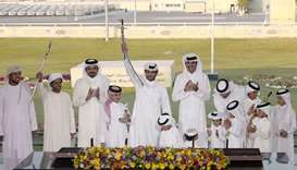 Amir awards camel race winners