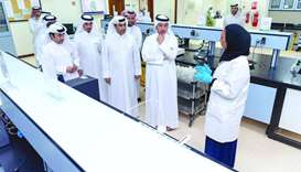 Prime Minister visits water quality laboratory in Duhail