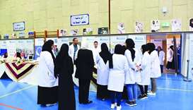 Exhibitors participate in the two-day event at Ruqaya Independent Preparatory School for Girls