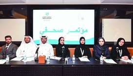 Arabic university debate championship- Representatives of the teams from Qatar