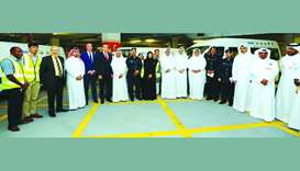 HE the Minister of Public Health Dr Hanan Mohamed al-Kuwari with other officials at the event.