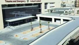A view of the new building of Hamad General Hospital Trauma and Emergency Department.