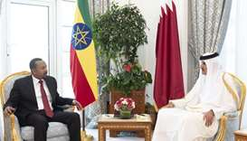 Amir, Ethiopia PM focus on cementing ties