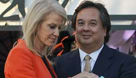 George Conway with Kellyanne