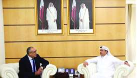 HE Minister of Education and Higher Education Dr Mohamed Abdul Wahed Ali al-Hamadi meets the Secreta