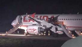 Eight hurt in aborted take-off at London airport