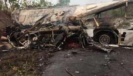 At least 60 killed in Ghana bus collision: police