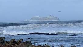 A cruise ship Viking Sky drifts towards land after an engine failure, Hustadvika, Norway