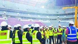 The group at Al Bayt Stadium – Al Khor City.