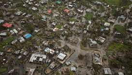 Flooded buildings are seen in Beira, Mozambique, in the aftermath of Cyclone Idai
