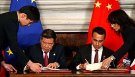 He Lifeng, Chairman of China's National Development and Reform Commission (NDRC) and Italian Ministe