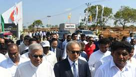 Sri Lanka Prime Minister Ranil Wickremesinghe (second left) and Oman Oil and Gas Minister Mohammed b
