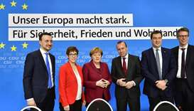 (L-R) The Secretary General of Germany's conservative Christian Democratic Union (CDU) Paul Ziemiak,