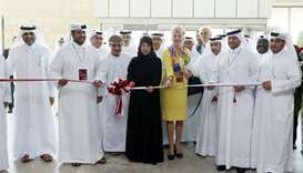 Minister of Public Health for the State of Qatar opening Qatar's International Medical Devices and H
