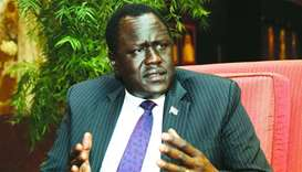 South Sudan's Minister of Petroleum Ezekiel Lol Gatkuoth in an interview with Gulf Times in Doha on