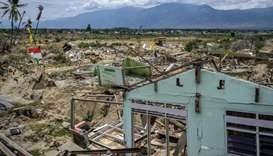 An area in Palu, central Sulawesi, severely damaged during a magnitude 7.5 quake and subsequent tsun
