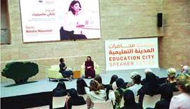 Dame Natalie shares insights at Education City event