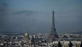 The Eiffel Tower and the dome of Les Invalides, are seen along the skyline of the French capital Par