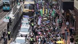 Thousands march in Hong Kong over proposed extradition law changes