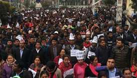 Teachers protest in Nepal