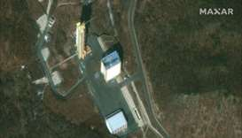 This satellite image provided by 2019 DigitalGlobe, a Maxar company, shows the Sohae Satellite Launc