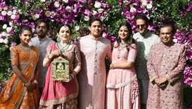Celebrities gather for wedding of scion of India's richest family
