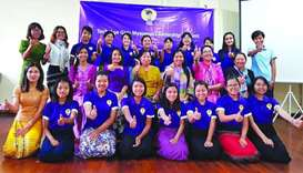 Participants of the 'Tech Age Girls' programme.