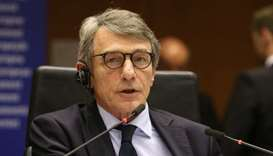 European Parliament speaker self-isolates after Italy visit