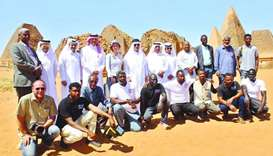 The Qatari delegation at Al Barjawi region in Sudan.