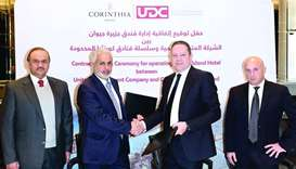 UDC signed an agreement with Corinthia Hotels to manage and operate Corinthia Doha. The agreement wa