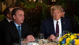 Trump says 'not concerned' that he met Brazilian official with coronavirus
