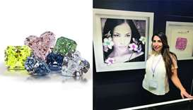 Shelley & Co showcased rare and colour diamonds at the recently-concluded DJWE 2020. (right) Shelley