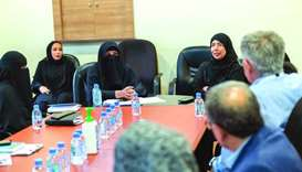 HE the Minister of Public Health Dr Hanan Mohamed al-Kuwari meeting with staff at HMC's Department o
