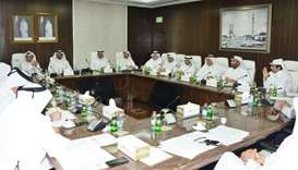 Qatar Chamber chairman Sheikh Khalifa bin Jassim al-Thani presiding over a meeting with the board of