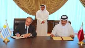 """HE the Minister of Transport and Communications Jassim Seif Ahmed al-Sulaiti attended the """"final sig"""